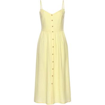 textil Mujer Vestidos cortos Lascana Vestido largo de verano Leinen amarillo Caqui