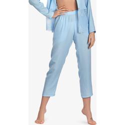 textil Mujer Pijama Ajour 7-8 Olvídame-no-pantalones de pijama azul celeste Azul Ciel