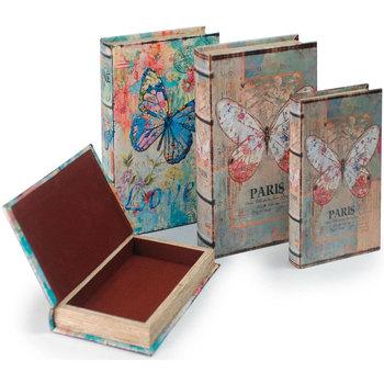 Casa Baúles, cajas de almacenamiento Signes Grimalt Caja Libro Set 4 Unidades Multicolor