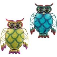 Casa Figuras decorativas Signes Grimalt Buho Pequeño Set 2 Unidades Multicolor