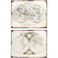 Casa Cuadros, pinturas Signes Grimalt Placa Pared Mapa Set 2 U Beige