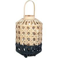Casa Lámparas de mesa Signes Grimalt Farol Bambú Pequeño Natural Negro