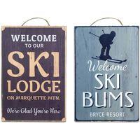 Casa Cuadros, pinturas Signes Grimalt Placa Pared Ski Set 2 U Multicolor