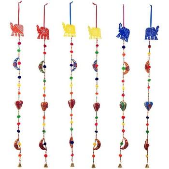 Casa Decoraciones festivas Signes Grimalt Colgante Elefante Set 6U Multicolor