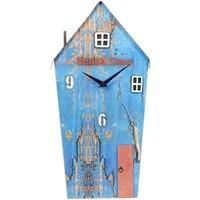 Casa Relojes Signes Grimalt Reloj Casa Madera Reciclada Azul