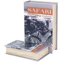 Casa Baúles, cajas de almacenamiento Signes Grimalt Cajas Libro Safari Zebra 2U Multicolor