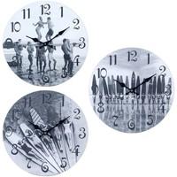 Casa Relojes Signes Grimalt Reloj Pared Surf 3 Dif. Gris