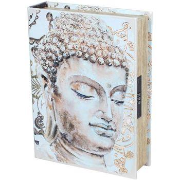 Casa Baúles, cajas de almacenamiento Signes Grimalt Caja Libro Seguridad-Buda Beige