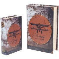 Casa Baúles, cajas de almacenamiento Signes Grimalt Cajas Libro Avión Retro 2U Multicolor
