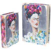 Casa Baúles, cajas de almacenamiento Signes Grimalt Cajas Libro Frida Set 2U Multicolor