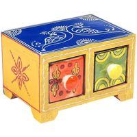 Casa Baúles, cajas de almacenamiento Signes Grimalt Especiero 2 Cajones Multicolor