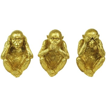 Casa Figuras decorativas Signes Grimalt Orangután 3U Dorado