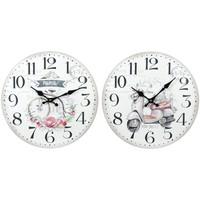 Casa Relojes Signes Grimalt Reloj Pared 2 Diferentes 2U Blanco