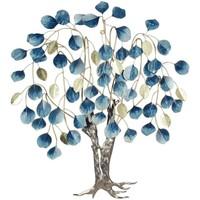 Casa Cuadros, pinturas Signes Grimalt Árbol Con Hojas Caídas Azul