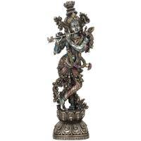 Casa Figuras decorativas Signes Grimalt Krishna Tocando La Flauta Plateado