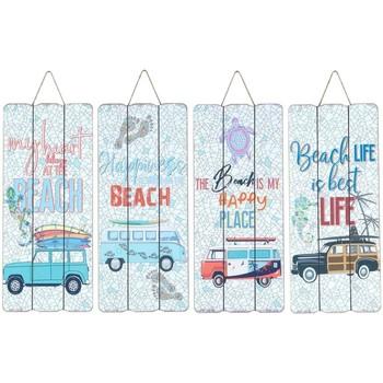 Casa Cuadros, pinturas Signes Grimalt Placa Pared Surf 4 Dif. Multicolor