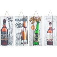 Casa Cuadros, pinturas Signes Grimalt Placa Pared Cerveza 4 Dif. Multicolor