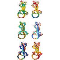 Casa Figuras decorativas Signes Grimalt Magnéticos Lagartos 6 Dif. Multicolor