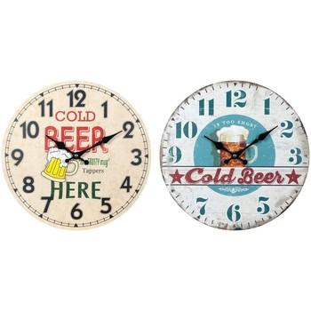Casa Relojes Signes Grimalt Reloj Pared Cerveza Set 2U Multicolor