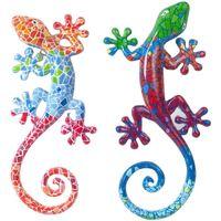 Casa Figuras decorativas Signes Grimalt Lagartos Pequeños  2U Multicolor
