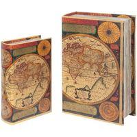Casa Baúles, cajas de almacenamiento Signes Grimalt Cajas Libro Mundo Set 2U Multicolor