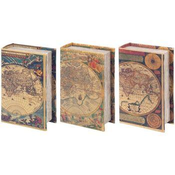 Casa Baúles, cajas de almacenamiento Signes Grimalt Cajas Libro 3 Dif. Mundo Multicolor