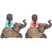 Casa Figuras decorativas Signes Grimalt Buda Sobre Elefante 2U Multicolor