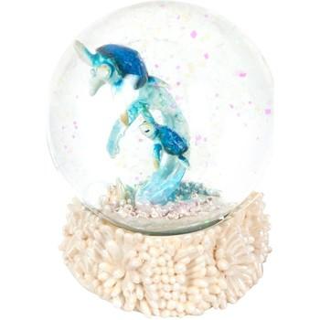 Casa Figuras decorativas Signes Grimalt Bola Agua Tortuga Purpurina Multicolor