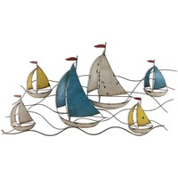 Casa Figuras decorativas Signes Grimalt Adorno Pared Barcos Multicolor