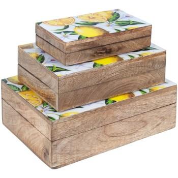 Casa Baúles, cajas de almacenamiento Signes Grimalt Set 3 Cajas Limones Marrón