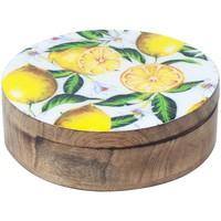 Casa Baúles, cajas de almacenamiento Signes Grimalt Caja Redonda Limones Multicolor