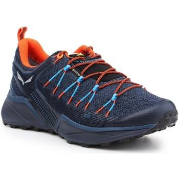 Zapatos Hombre Senderismo Salewa MS Dropline GTX 61366-8669 azul marino, naranja, negro