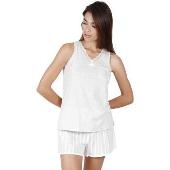 textil Mujer Pijama Admas Classic LUXE STRIPES PERLA