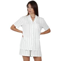 textil Mujer Pijama Admas Classic CLASSIC STRIPES VERDE AGUA