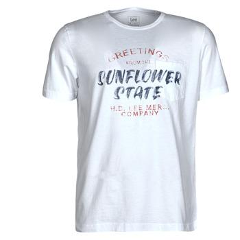 textil Hombre Camisetas manga corta Lee SS POSTER TEE Blanco