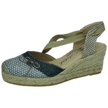Zapatos Mujer Alpargatas Torres Valenciana lazos NEGRO