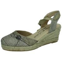Zapatos Mujer Alpargatas Torres Valenciana lazos BEIG