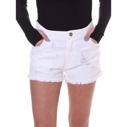 textil Mujer Shorts / Bermudas Fornarina BE172B92D877KM Blanco