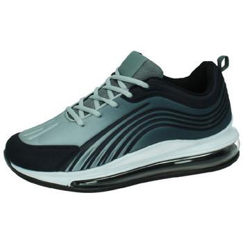 Zapatos Hombre Zapatillas bajas Demax Tenis camara de aire GRIS-NEGRO