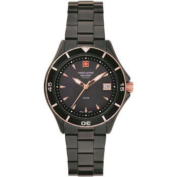 Relojes & Joyas Mujer Relojes analógicos Swiss Alpine Military 77.401.187, Quartz, 36mm, 10ATM Negro