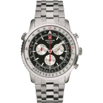 Relojes & Joyas Hombre Relojes analógicos Swiss Alpine Military 7078.9137, Quartz, 46mm, 10ATM Plata