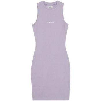textil Mujer Vestidos cortos Sixth June Robe femme  Rib Essential bleu lila