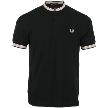 textil Hombre Polos manga corta Fred Perry Tipped Henley Polo Negro