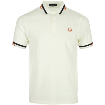 textil Hombre Tops y Camisetas Fred Perry Abstract Tipped Polo Shirt Blanco