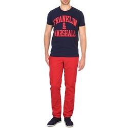 textil Hombre pantalones chinos Franklin & Marshall GLADSTONE Rojo