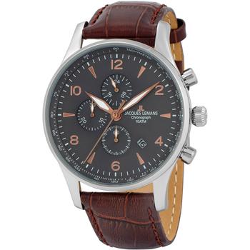 Relojes & Joyas Hombre Relojes analógicos Jacques Lemans 1-1844ZK, Quartz, 44mm, 10ATM Plata
