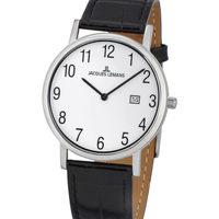 Relojes & Joyas Hombre Relojes analógicos Jacques Lemans 1-1848B, Quartz, 39mm, 5ATM Plata