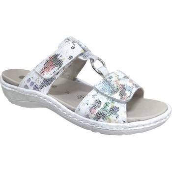 Zapatos Mujer Zuecos (Mules) Remonte Dorndorf D7644 Blanco/Multi
