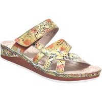 Zapatos Mujer Zuecos (Mules) Laura Vita Brcuelo 0521 Cuero amarillo
