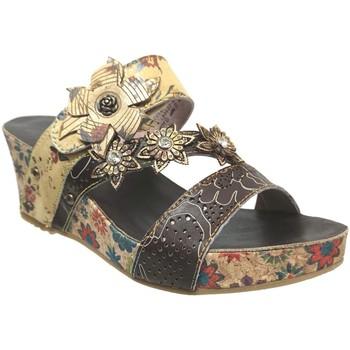 Zapatos Mujer Zuecos (Mules) Laura Vita Facdiao 0621 Multi cuero marrón